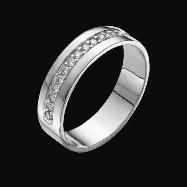 кольцо белое золото cartier