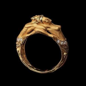 Кольцо Carrera v Carrera желтое золото Адам и Ева