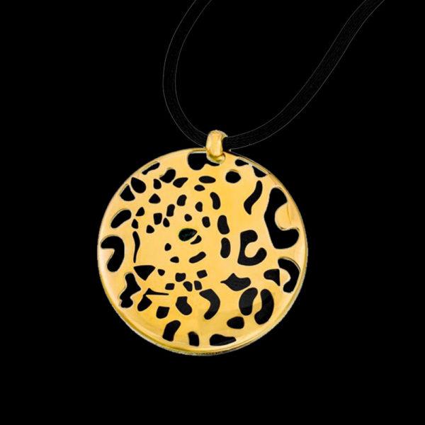 Подвеска Cartier желтое золото Panthere de Cartier
