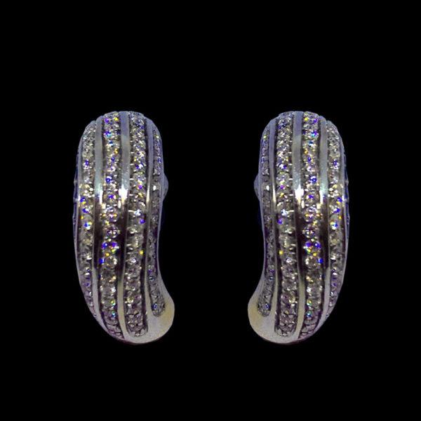 Серьги белое золото Chopard