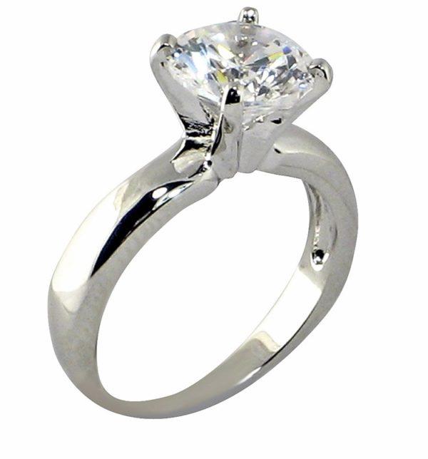 Кольцо белое золото Cartier бриллиант