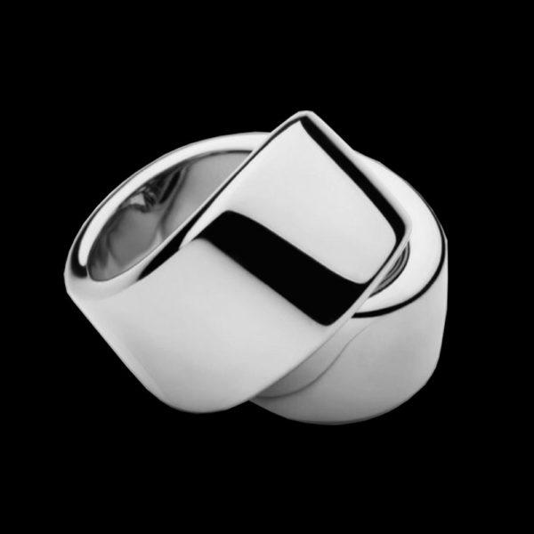 Кольцо Dior белое золото