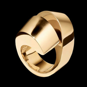 Кольцо желтое золото Tiffany