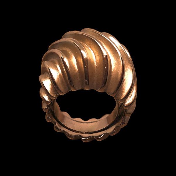 Кольцо желтое золото Ganezzi