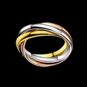 кольцо обручальное тринити