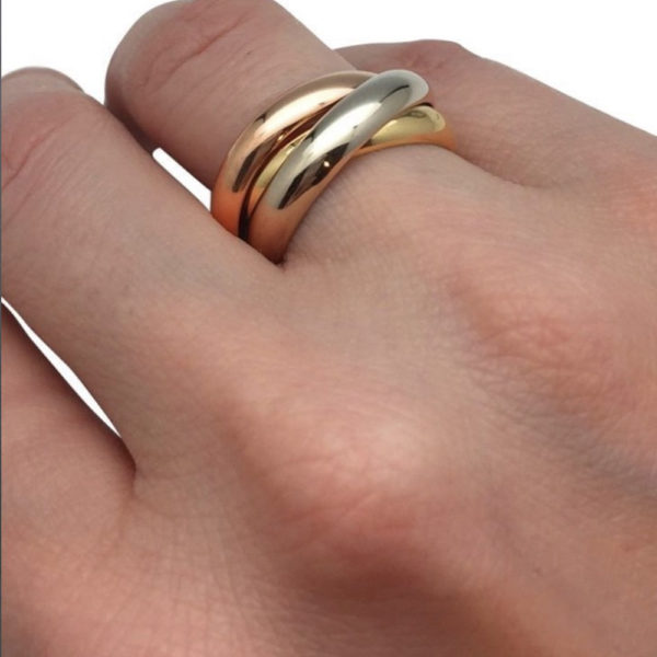 картье тринити кольцо
