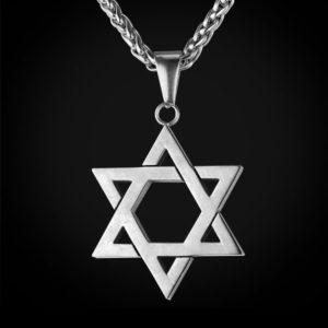 подвеска Звезда Давида белое золото