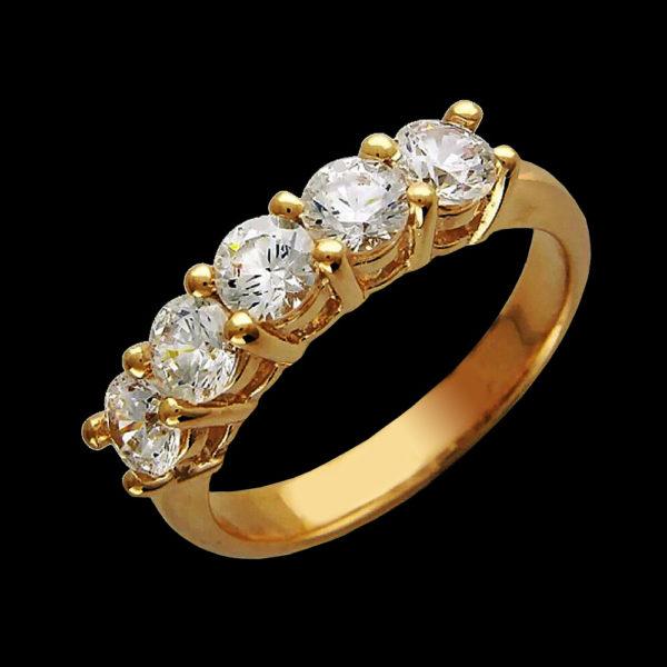 Кольцо желтое золото Tiffany & Co
