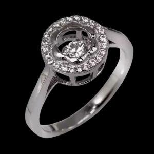 Кольцо Chopard белое зотото фианиты