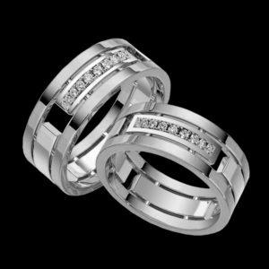 кольцо обручальное белое золото baraka