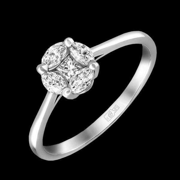 Кольцо с бриллиантами 1