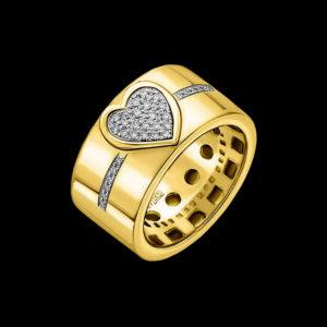 Обручальное желтое золото бриллианты