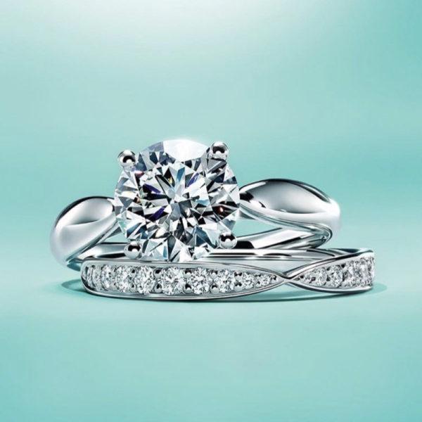 помолвка кольцо белое золото