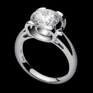 Помолвочное кольцо фианиты
