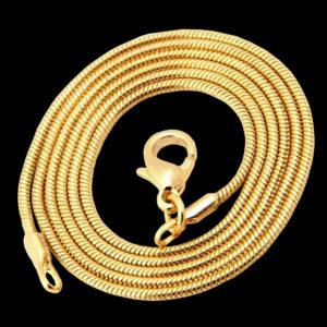 колье желтое золото