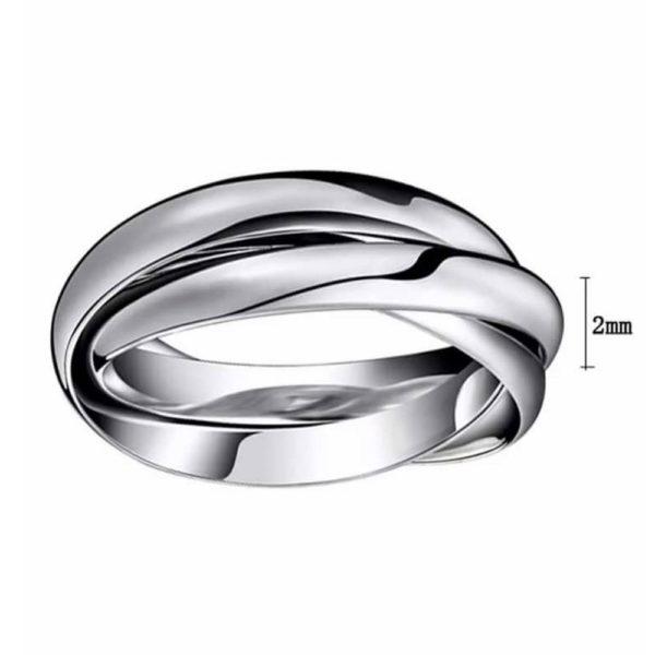Кольцо обручальное белое золото 1