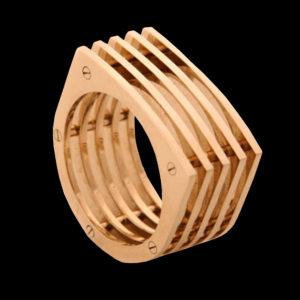 Кольцо желтое золото