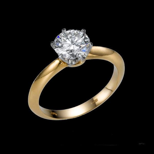 Кольцо помолвочное 1