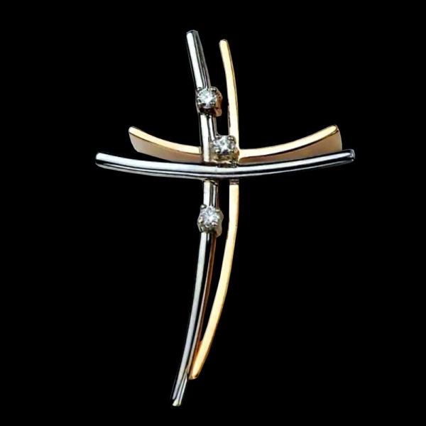 крест двухцветный