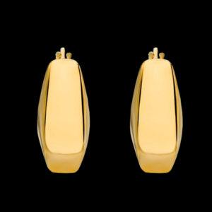 серьги в желтом золоте