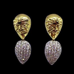 серьги золото бриллианты