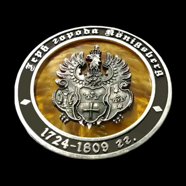 Сувенирная медаль янтарь 1
