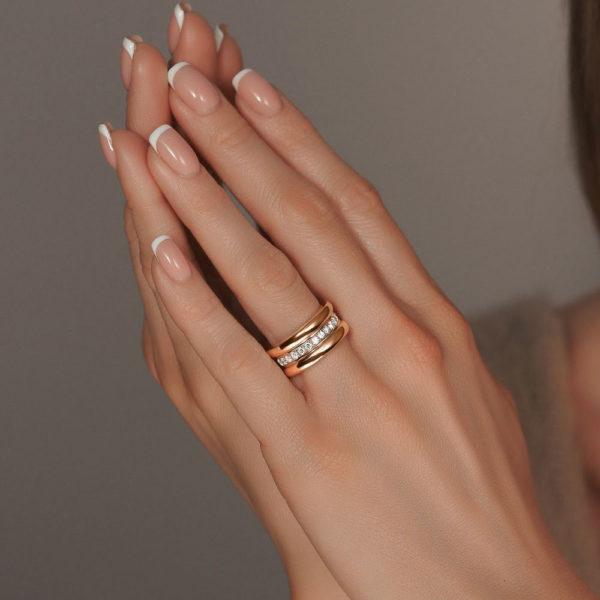 обручальное кольцо в желтом золоте