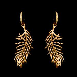 серьги желтое золото