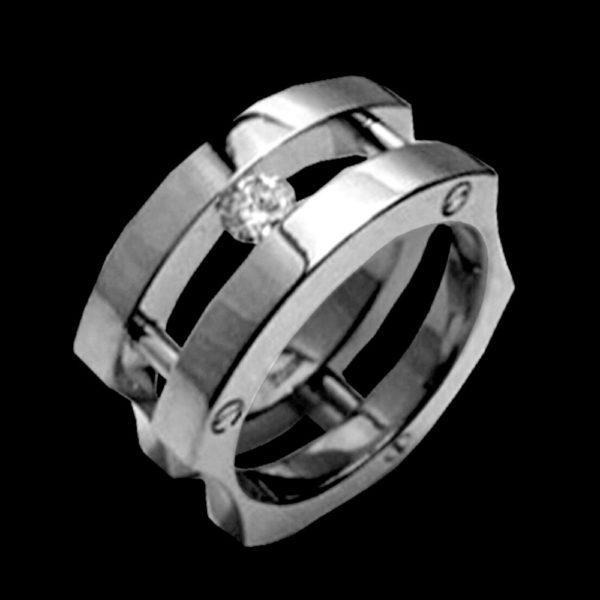 белое золото обручальное кольцо