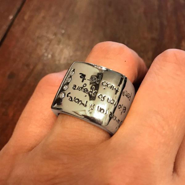 кольцо с брильянтами