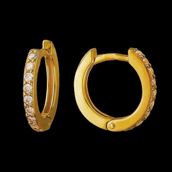 Серьги с бриллиантами в желтом золоте 1