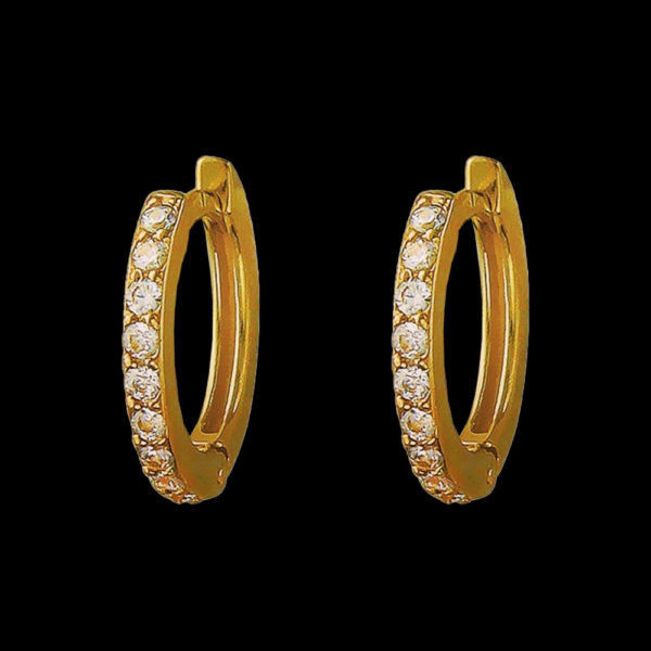 Серьги Tiffany желтое золото