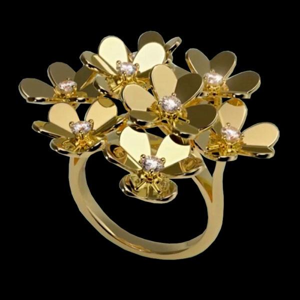 кольцо vancleefarpels