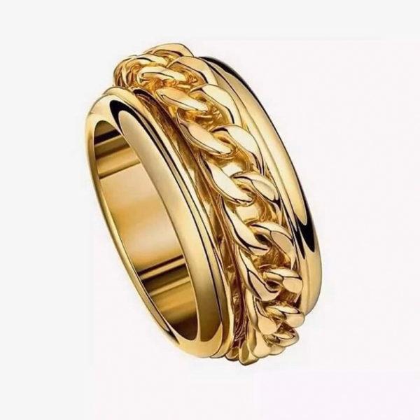 Кольцо в желтом золоте 1