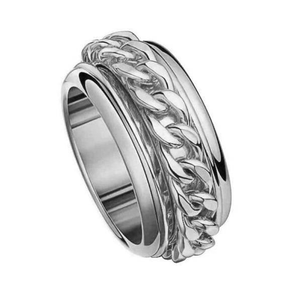 Кольцо в белом золоте 2