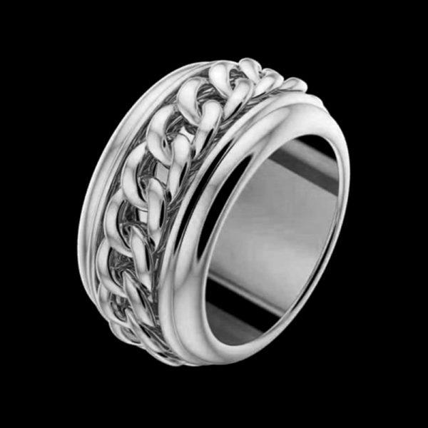 Кольцо в белом золоте 1