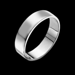 Кольцо обручальное в белом золоте