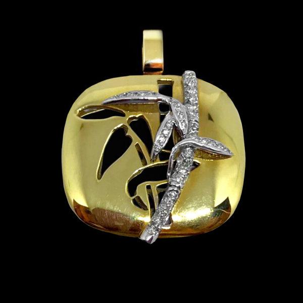 Подвеска в желтом золоте с бриллиантами