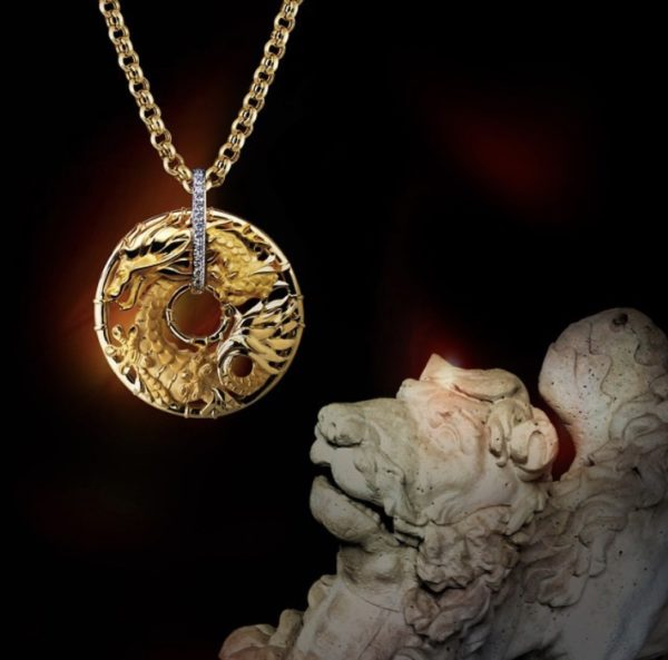 Подвеска золотая с бриллиантами 1