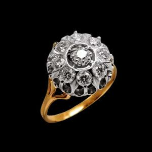 желтое золото с бриллиантами
