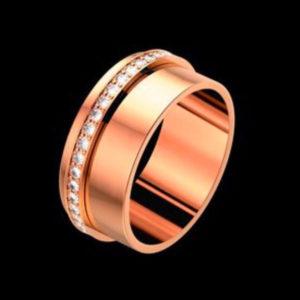 розовое золото с бриллиантами