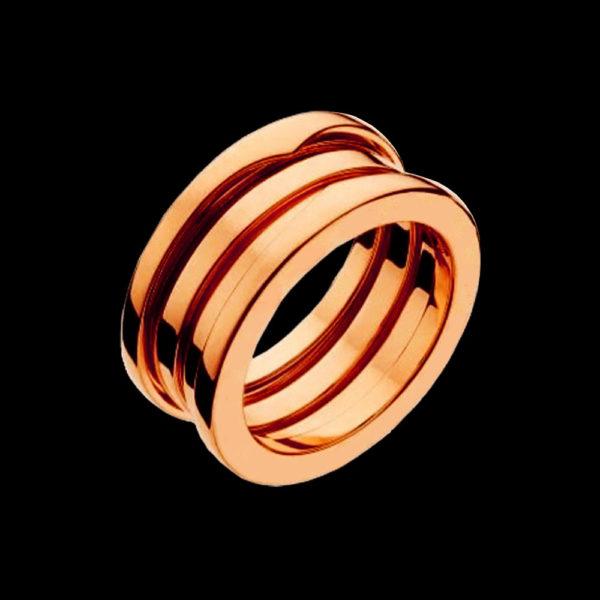 Обручальное кольцо красное золото