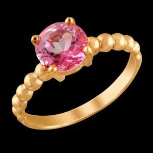 Кольцо в красном золоте с аметистом