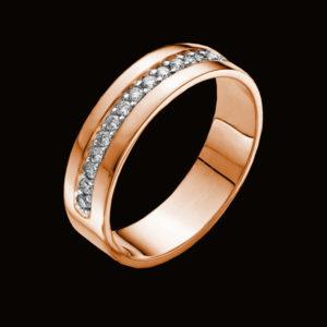 кольцо обручальное в розовом золоте