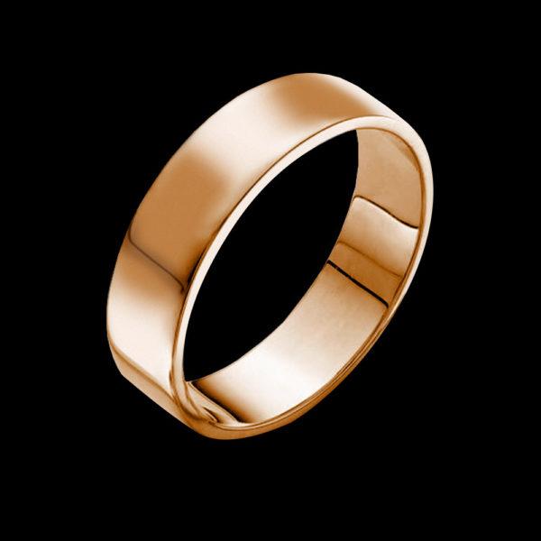 розовое золото обручальное кольцо