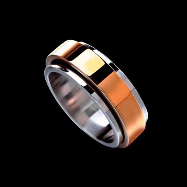 обручальное кольцо в розовом золоте