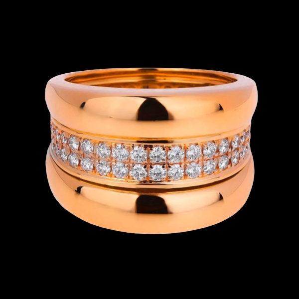 Кольцо обручальное красное золото