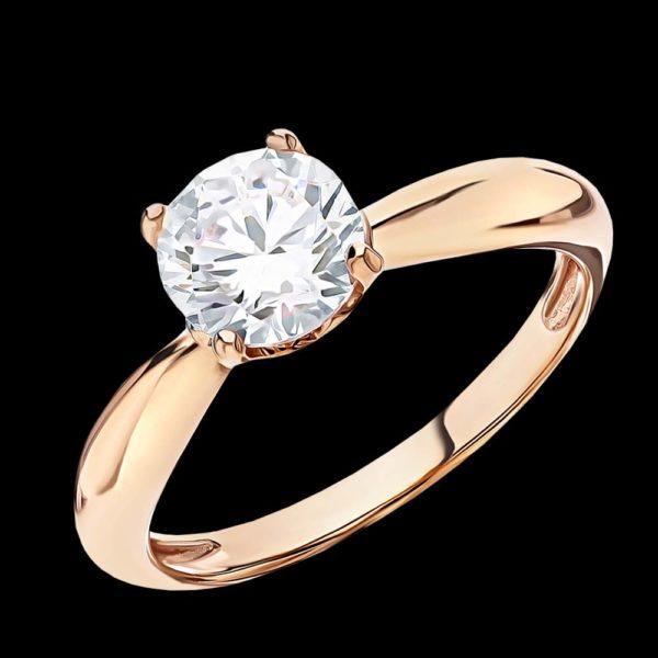 Розовое золото помолвка