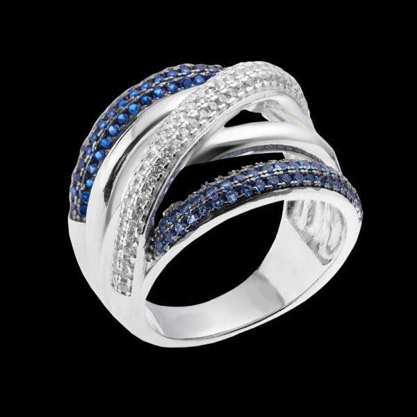 Серебряное кольцо фианитами