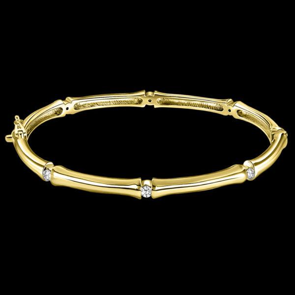 Браслет в желтом золоте с бриллиантами